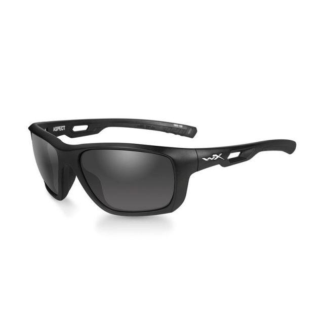 WileyX Aspect rauchgrau matt Rahmen matt schwarz Sonnenbrille