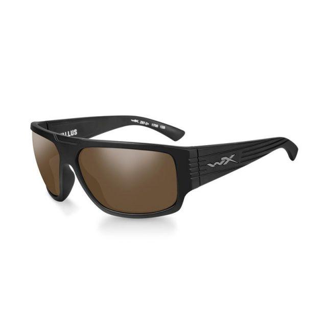 WileyX Vallus polarisiert amber Rahmen matt schwarz Sonnenbrille