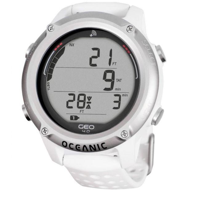 Oceanic Geo 4.0 Tauchcomputer Uhr Dual Algorithmus DSAT Z+ weiß