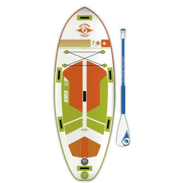 BIC 7'6 Air SUP + Paddel x 31 River aufblasbares Stand Up Paddle Board isup